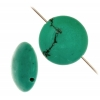 Turquoise Stablized Magnesite Disc 14mm 8In Strand